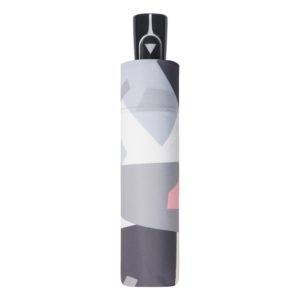 Moteriškas skėtis Doppler Automatic Crush suskleistas pilkas skėtis