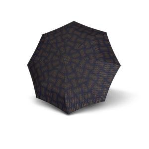 Knirps skėtis su dėklu Stars Navy išskleistas