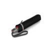 Unisex skėtis Knirps T200 Duomatic Reflective Rain juodas su atšvaitais suskleistas