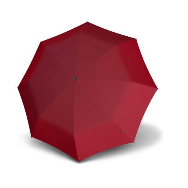 Moteriškas skėtis Knirps T010 Dark Red, tik 18 centimetrų ilgio