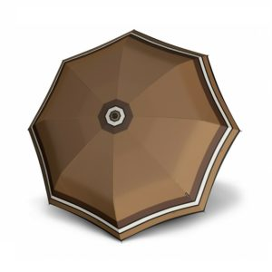 Moteriškas skėtis Knirps T200 Duomatic Border Toffee