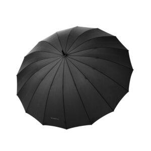 Vyriškas skėtis bugatti Doorman Uni Black, kaštonmedžio rankena, 16 stipinų