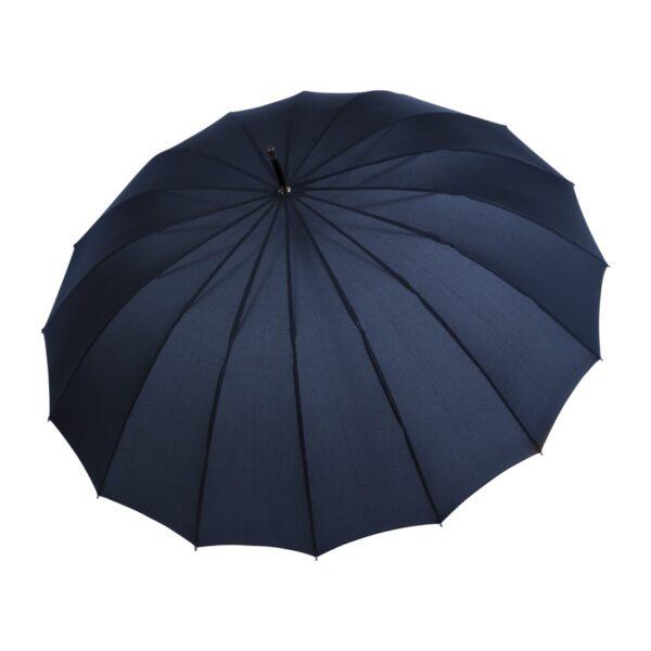 Doppler Liverpool Navy skėtis su odine rankena ir 16 stipinų