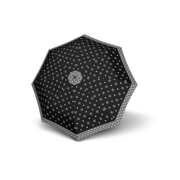 Moteriškas skėtis Doppler Fiber Magic Black & White Minimals