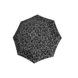 Moteriškas skėtis Doppler Fiber Magic Black & White Paisley
